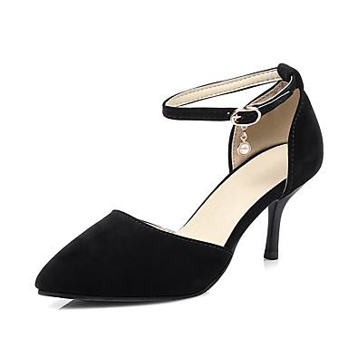 Mujer Zapatos Cuero de Napa Verano Confort Sandalias Tacón Stiletto Dedo Puntiagudo Blanco / Negro Prix Wiki Pas Cher e1T5NQ