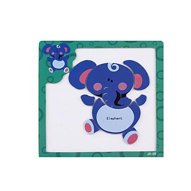 levne 3D puzzle-Tangram 3D puzzle Puzzle Slon Magnetické Dřevo Animák Dětské Hračky Dárek / Dřevěné puzzle