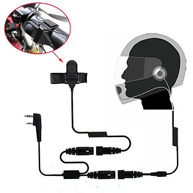 รถจักรยานยนต์เต็มรูปแบบหน้าหมวกกันน็อกชุดหูฟังหูฟังสำหรับสองทางวิทยุเครื่องส่งรับวิทยุ 365 baofeng wanhua
