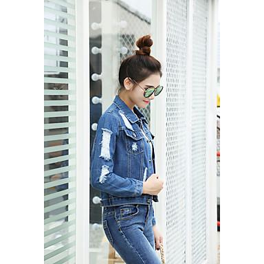 f36e50f6eb szupermodell igazi lövés harajuku bf szél laza farmer dzseki női rövid  bekezdés koreai hullám nagy méretű lyuk farmer ruházat 5686249 2019 – $19.99