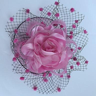 povoljno Party pokrivala za glavu-Net / Saten Fascinators / Cvijeće / Vjeverica kose s 1 Vjenčanje / Special Occasion / Kauzalni Glava