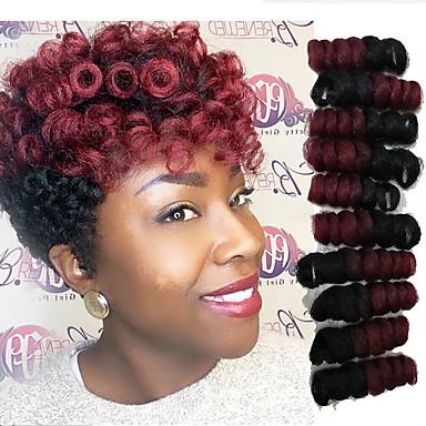 povoljno Ekstenzije za kosu-Kosa koja se plete Bouncy Curl Saniya Curl Twist pletenice Curlkalon kose Sintentička kosa 20 korijena / pakiranja Sušilo za pletenice Ombre 10-20 inch