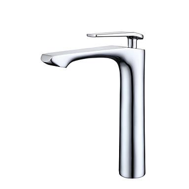 ก๊อกน้ำอ่างล้างจานห้องน้ำ - กระจาย มีสี ตัวเจาะนำศูนย์ จับเดี่ยวหนึ่งหลุม