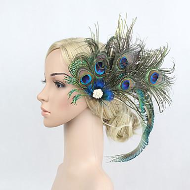 povoljno Party pokrivala za glavu-Umjetno drago kamenje / Perje / Legura Cvijeće / Šeširi / Ukosnica s Cvjetni print 1pc Special Occasion Glava