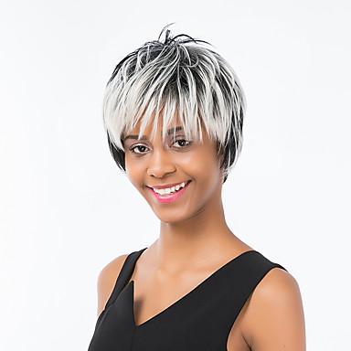 Pufos De Culoare Gradient De Hairl Păr Scurt Păr Uman 5666303 2019