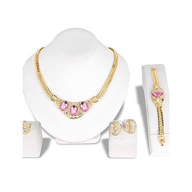 Dam Smycken Set Ring Örhängen   armband Mode Euramerikansk Bergkristall  Glas Legering Blomma Form1 Par Örhängen 1 Armband Dekorativa 5842022 2019 –   16.99 c56ccd1a82ad8