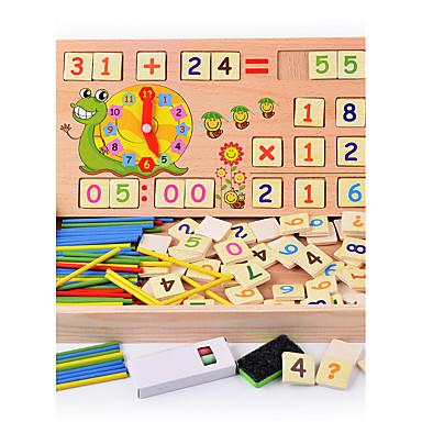 preiswerte Mathematische Spielsachen-Montessori Lernspielzeug Bausteine Mathe-Spielzeug Bildungsspielsachen Quadratisch Bildung Klassisch Jungen Spielzeuge Geschenk