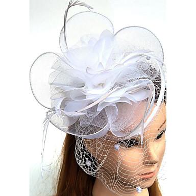 voordelige Hoeden-Tule / Veer / Net Kentucky Derby Hat / fascinators / hatut met 1 Bruiloft / Speciale gelegenheden  Helm