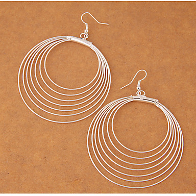 สำหรับผู้หญิง Drop Earrings สุภาพสตรี แฟชั่น ต่างหู เครื่องประดับ สีเงิน สำหรับ ปาร์ตี้ ทุกวัน
