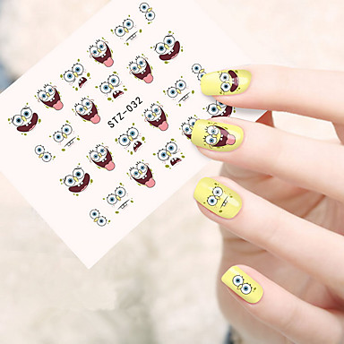 10pcsset Fashion Nail Art Water Transfer Decals Lovely Cartoon