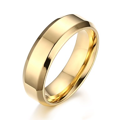 สำหรับผู้ชาย แหวน สีทอง สีดำ สีเงิน โลหะ รูปร่างวงกลม ทุกวัน เครื่องประดับ