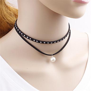 8d6d84fdd451 Dámské Dívčí Gothic Style Tek Renk Gothic Lolita Retro Obojkové náhrdelníky  Náhrdelník Pro Večírek Maturitní ples 1 x náhrdelník Kostýmní šperky  5676151 ...