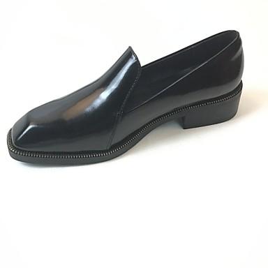 Mujer Zapatos Cuero de Napa Verano Confort Bailarinas Talón de bloque Negro Commercialisable À Vendre Livraison Gratuite Authentique Réduction Très Pas Cher k80pD