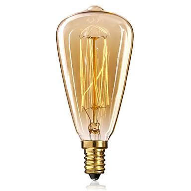 ecolight ™ 1pc edsion lampa 40w e14 st48 varm vit 2300k glödlampa vintage edison lampa 220-240v