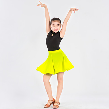 96d1f4d49aa9 Latin Dance Outfits Women's Kid's Performance Spandex Polyester Ruffles  Pattern/Print Splicing 2 Pieces Sleeveless Natural Leotard Skirt 5662992  2019 – ...