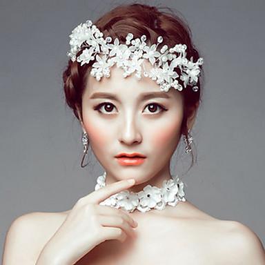 ไข่มุกเทียม / อะคริลิค / พลอยเทียม tiaras / headbands / ดอกไม้ กับ 1 งานแต่งงาน / โอกาสพิเศษ / ที่มา หูฟัง