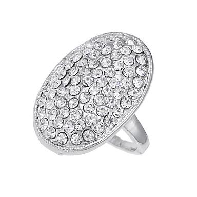 billige Motering-Herre Band Ring Sølv Diamant Legering Sirkelformet damer Unikt design Vintage Fest Spesiell Leilighet Smykker Logo