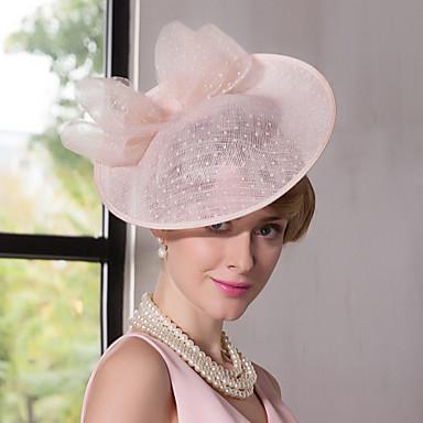 levne Klobouk na party-lněná krajka fascinátory klobouky čelenka klasický ženský styl