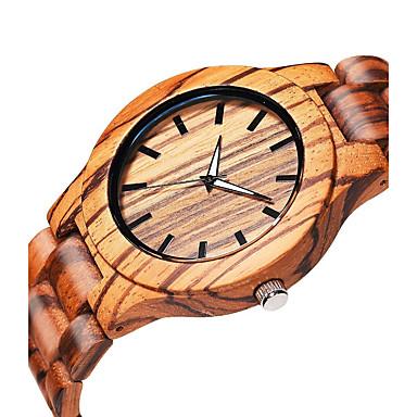 levne Pánské-Pánské Náramkové hodinky Křemenný Dřevo Béžová dřevěný Analogové Elegantní