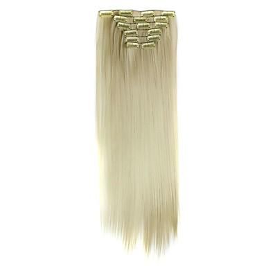 levne Syntetické příčesky-Hair kus Volný Klasický Umělé vlasy Prodlužování vlasů Připínací Denní