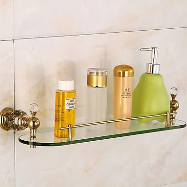 Badezimmer Regal Messing / Glas 1 Stück - Hotelbad 5674264 ...