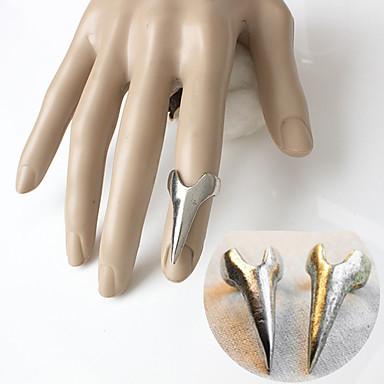 preiswerte Schmuck Herren-Herrn Nagel Fingerring Gold Silber Aleación Trapezform Einzigartiges Design Besondere Anlässe Alltag Schmuck