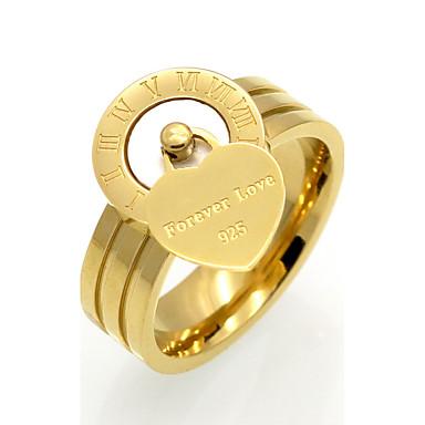 billige Motering-Herre Dame Band Ring Onyks Hvit Svart Agat Titanium Stål Personalisert Geometrisk Unikt design Julegaver Fest Smykker Hjerte