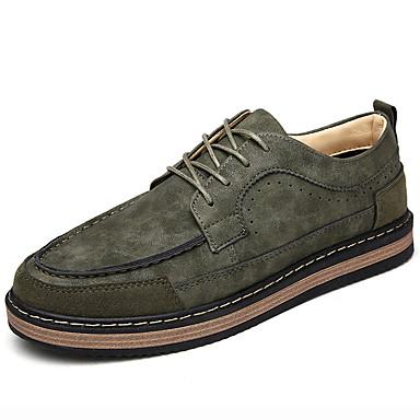 6b7dd328cff Masculino sapatos Couro Primavera Verão Outono Inverno Tira no Tornozelo  Tênis Cadarço Para Casual Preto Cinzento Amarelo Verde de 5674628 2019 por   18.99