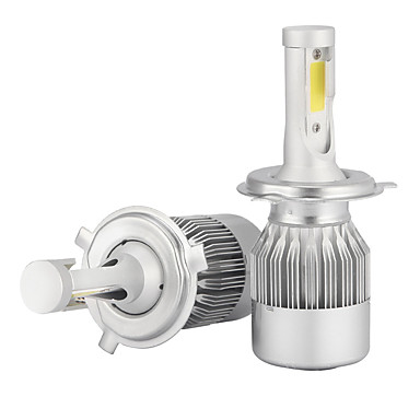 2pcs H4 รถยนต์ Light Bulbs 36W/pcs*2 W COB 3600 lm LED ไฟคาดหัว สำหรับ