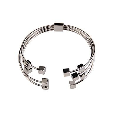 voordelige Dames Sieraden-Dames Cuff armbanden Vintage Modieus Juweeltje Armband sieraden Goud / Zilver Voor Speciale gelegenheden Lahja