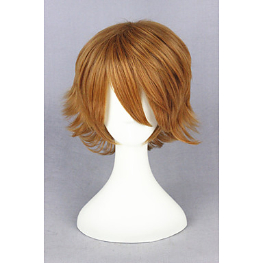 billige Kostymeparykk-Syntetiske parykker Kostymeparykker Rett Stil Parykk Blond Kort Blond Syntetisk hår Dame Blond Parykk