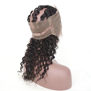 povoljno Ekstenzije od ljudske kose-3 paketi s zatvaranjem Brazilska kosa 360 Frontal Duboko Val Virgin kosa Ljudske kose plete Isprepliće ljudske kose Proširenja ljudske kose / 10A