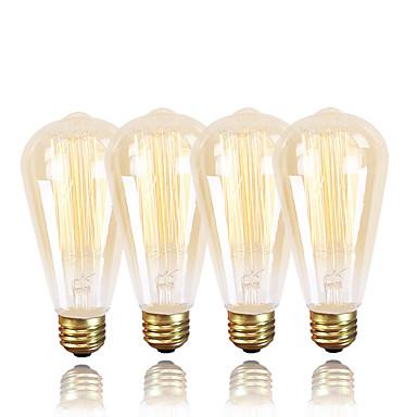 GMY® 4 ชิ้น 40 W E26 / E27 ST64 2300 k หลอดไฟ Vintage Edison รุ่น Exand 220-240 V