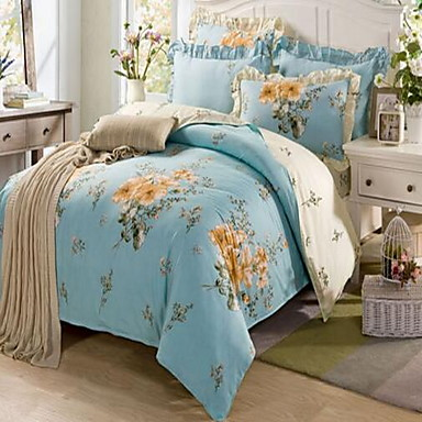 Bed 210 160.Set Of 4 Pieces Cotton Bedding Quilt 160 210 Bed Linen 160 230
