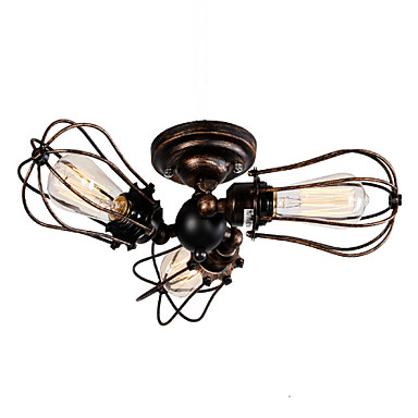 QINGMING® 3-Light โคมไฟระย้า Ambient Light ทาสีเสร็จสิ้น โลหะ Mini Style, นักออกแบบ 110-120โวลล์ / 220-240โวลต์ ไม่รวมหลอดไฟ / E26 / E27