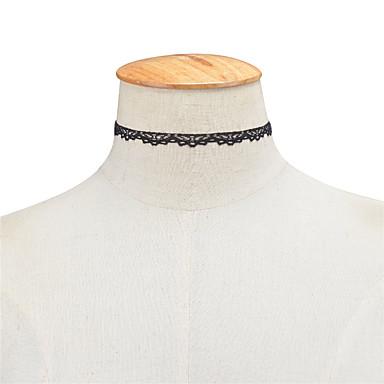 levne Dámské šperky-Dámské Obojkové náhrdelníky Přizpůsobeno Evropský minimalistický styl Módní Krajka Bílá Černá Náhrdelníky Šperky Pro Zvláštní příležitosti Narozeniny Denní Ležérní
