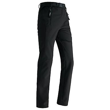 สำหรับผู้ชาย Hiking Pants Softshell Pants กลางแจ้ง ผ้าซับในขนสัตว์ ความต้านทานการสึกหรอ ฤดูใบไม้ร่วง ฤดูใบไม้ผลิ ซอฟท์เซล กางเกง ด้านล่าง การตกปลา การเดินเขา แคมป์ปิ้ง สีดำ กุหลาบแดง S XXXL