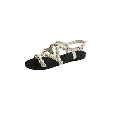 965a3c448c30a1 Women s Shoes PU Summer Gladiator Light Soles Sandals Walking Shoes Chunky  Heel Imitation Pearl For Casual Outdoor White Black 5666398 2019 –  20.99