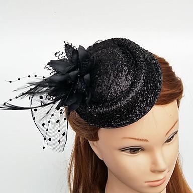 povoljno Party pokrivala za glavu-Til / Perje Fascinators / kape / Šeširi s Cvjetni print 1pc Vjenčanje / Special Occasion Glava