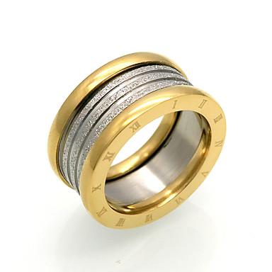 billige Motering-Herre Dame Ring spinnring Groove Rings Svart Sølv Titanium Stål Sirkelformet Personalisert Geometrisk Vintage Fest Spesiell Leilighet Smykker