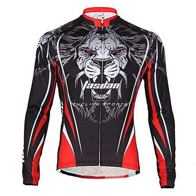c0154b229 TASDAN Men s Cycling Jersey Bike Jersey Breathable Quick Dry Back Pocket  Sports Lion Winter Mountain Bike MTB Road Bike Cycling Clothing Apparel  Relaxed Fit ...