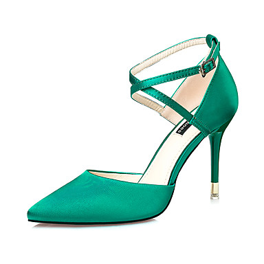 8eccb6b9ca8 Women's Shoes Silk Spring Summer Comfort Sandals Stiletto Heel Pointed Toe  Buckle for Dress Black Red Green Pink Champagne 5665183 2019 – $25.99