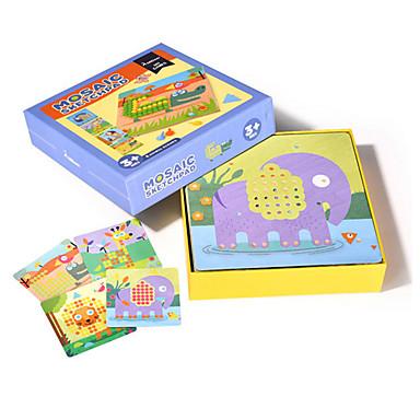 levne Kreslení hračky-Kreslení hračky Tabulky na kreslení Stavební bloky Puzzle Sada mozaiky Hračky Obdélníkový Houba Dřevo Unisex Chlapci Pieces