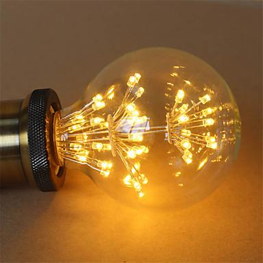 preiswerte Dekoration Glühbirnen-1pc 3 W LED Glühlampen 200 lm E26 / E27 G95 47 LED-Perlen COB Dekorativ sternenklar Warmes Weiß 85-265 V / RoHs