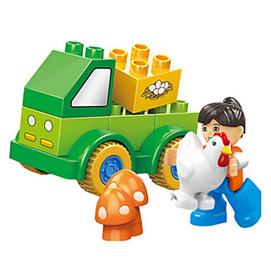 Building Blocks ของเล่นชุดก่อสร้าง ของเล่นการศึกษา 11 pcs ไก่ สัตว์ต่างๆ DIY เด็กผู้ชาย เด็กผู้หญิง Toy ของขวัญ