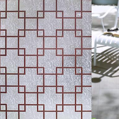 ภาพยนตร์หน้าต่างและสติ๊กเกอร์ เครื่องประดับ Retro รูปเรขาคณิต PVC / Vinil สติกเกอร์หน้าต่าง