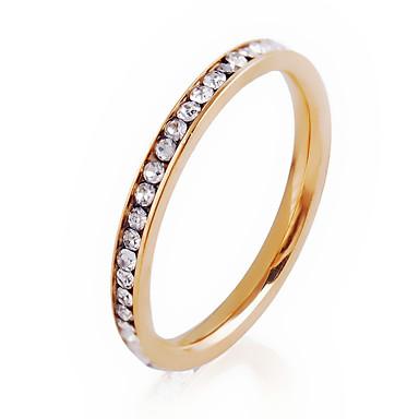 billige Motering-Dame Band Ring Ring Belle Ring Syntetisk Diamant Gull Sølv Krystall Sinklegering Rund Sirkelformet damer Personalisert Enkel Stil Fest jubileum Smykker