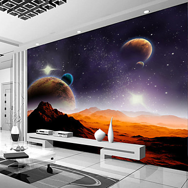 cheap Wall Art-Galaxy Planet Custom 3D Large Wallcovering Mural Wallpapers Fitted Restaurant Bedroom Office Natural Scenery