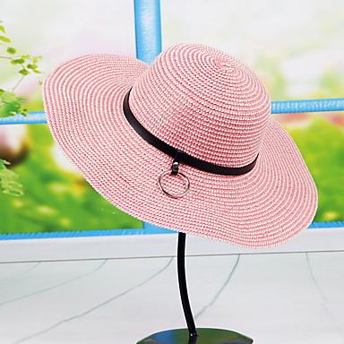 Mujer Primavera Verano Otoño Todas las Temporadas Vintage Bonito Fiesta  Trabajo Casual PajaBombín Cloche Sombrero de Paja Sombrero para 5672003  2019 – ... ee12238f7ec