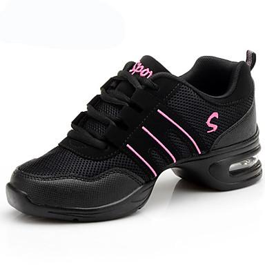 abordables Chaussures de Danse-Femme Chaussures de danse Tissu Baskets de Danse Basket Talon Bas Non Personnalisables Noir / Violet / Rose / Entraînement / EU42